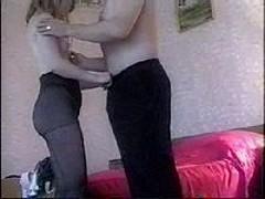 Gal in pantyhose teasing