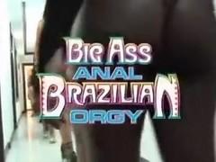 Brazilians sluts have a hardcore anal orgy