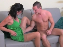Euro Milf filming a guy