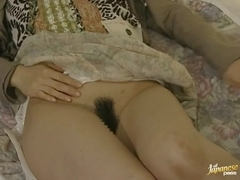 Horny Japanese mature woman peeping masturbation