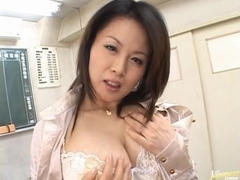 Miki Sato Asian doll is a sweet teacher enjoying her students