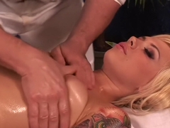 Emma Mae Gets One Slippery Massage