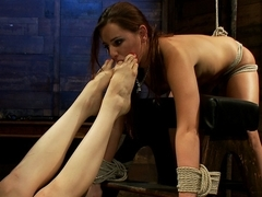 Hottest lesbian, fetish sex video with exotic pornstars Hope Howell and Lorelei Lee from Whippedass