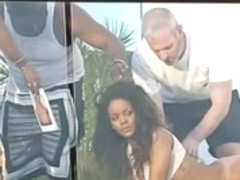 Rihanna naked bottomless for a french photo shoot