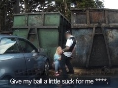 Xena in Balls of steel: Girl caught short won't be telling her boyfriend - FakeCop