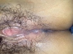 Spouse bonks his wife's unshaved and soaked fur pie