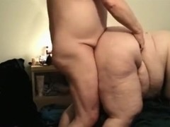 Bbw sucks her man hard, gets doggystyle fucked and fisted.
