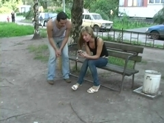 Fun blonde girl liked public fuck