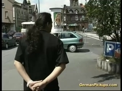 german couple picked up for first sex tape
