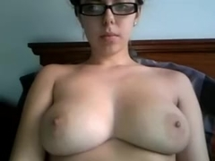 Busty college girl on webcam