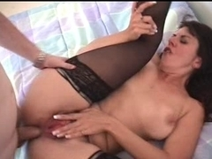Unshaved Mother I'd Like To Fuck drilled in the wazoo