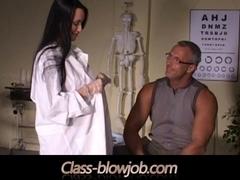 Claudia Adams performing class blowjob