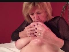 Natural Breasty Older Martiddds: Self-engulf Teat Compilation