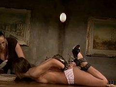 Astonishing girl Mandy Bright is being violated