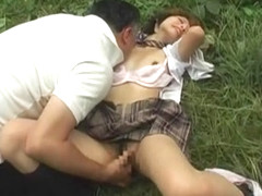 Horny Japanese chick Sayaka Kurashina, Mai Otsuka, Miku Oguri in Crazy Outdoor, Deep Throat JAV mo.