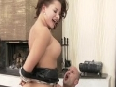 Best pornstar Anna Polina in incredible dildos/toys, brunette adult scene