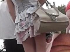 My web camera discharged her belt upskirt closely