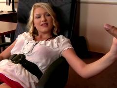 Best pornstar Lucy Heart in horny blowjob, blonde xxx scene