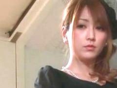 Exotic Japanese chick in Incredible Stockings/Pansuto, Handjobs JAV video