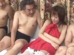 Fabulous Japanese girl Arisa Kanno in Best Gangbang, Stockings/Pansuto JAV scene