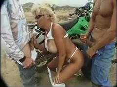 Milf acquires open air anal & dp