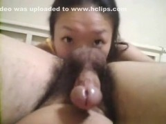 Petite asian girl blowjob, rimjob, missionary and cowgirl action in the bedroom.