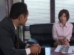 Hot milf teacher Saki Okuda gets hard doggy style fucking