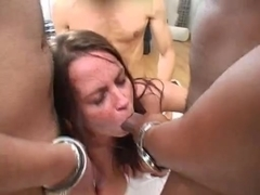 Busty Scottish Girl Gets Gangbanged - Cireman