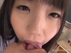 Naughty Japanese schoolgirls in mff with horny guy