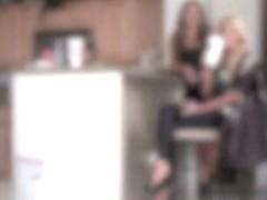 Modern day BDSM cinderella in the kitchen