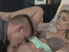 Tattooed ass milf fucked in her bed