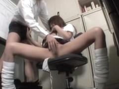 Petite teen gets dicked in great Japanese sex video