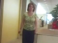 Office Coworker Big Bouncy Boobs