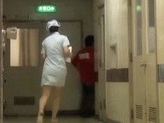 Naughty Japanese bottom sharking for the hospital nurse