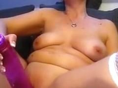 chubby slut anna with a 24 x 5,5 cm big toy