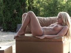 Best pornstar Melanie Gold in Crazy Blonde, Solo Girl porn clip