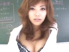 Best Japanese girl Anna Akizuki in Crazy Stockings/Pansuto, Cougar JAV movie