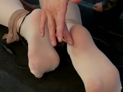 Dahlia Sky DPed LIVE by Gia DeMarco in Hot Lesbian Pantyhose Electrosex!