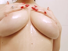 Horny pornstar Samantha Bentley in Amazing Showers, Brunette xxx clip