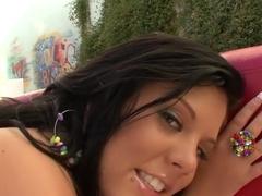 Crazy pornstar Riley Evans in incredible big tits, cunnilingus adult clip