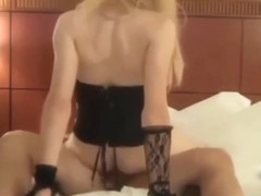 Tgirl rides a dick cowgirl position