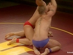 NakedKombat Marcus Titan Ruhl vs Jeremy Stonewall Stevens Muscled Oil Match