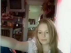 Webcam blonde jack off