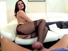 Carla Mai is performing so great footjob