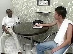 OLD darksome DAD copulates youthful white DUDE fuckinand UNFATHOMABLE
