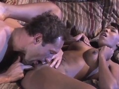 Ebony babe Rane Revere gets sprayed with cum
