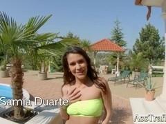 AssTraffic Spanish bubble butt gets double penetration treatment