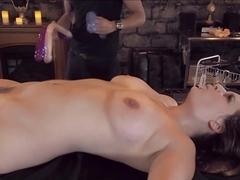 Bound hottie fuck dildo