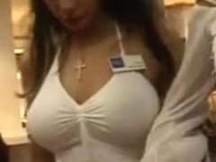 Big Candid Tits at the Mall