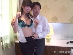 Meisa Chibana is an Asian milf enjoying some doggy style